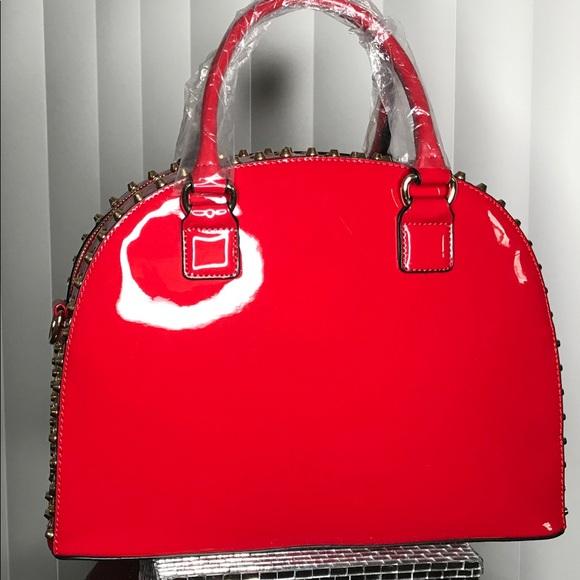 09581c7d9b Dasein Patent Leather Rhinestone Fashion Handbag